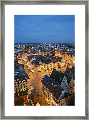 Market Square In The Old Town Of Wroclaw Framed Print by Guy Vanderelst
