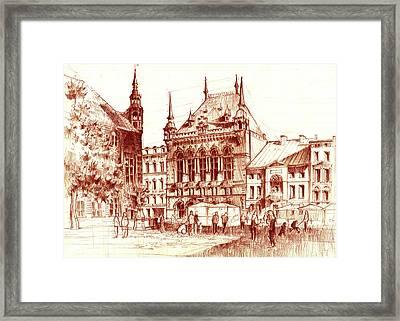 Market Square Framed Print by Krystian Wozniak