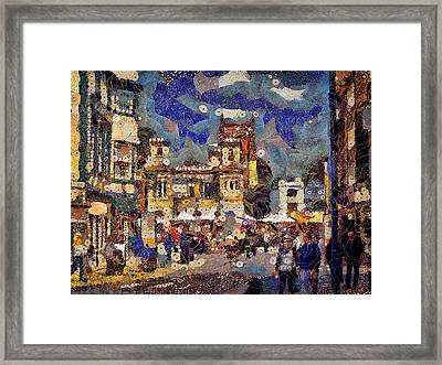 Market Square Monday Framed Print
