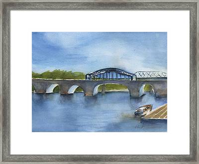 Market St Bridge Abstract Chattanooga Framed Print by Frank Bright