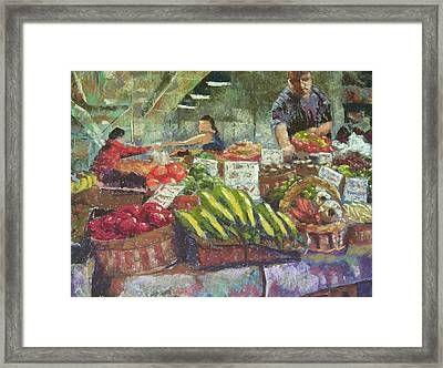 Market Stacker Framed Print by Mary McInnis