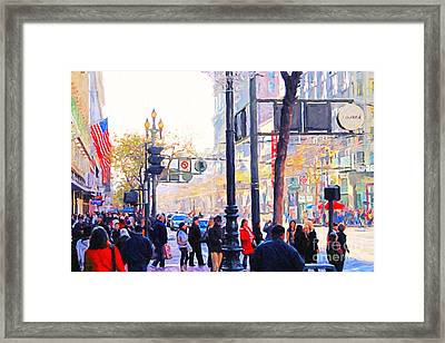 Market Street - Photo Artwork Framed Print by Wingsdomain Art and Photography
