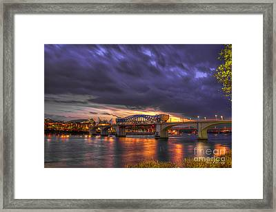 John Ross Market Street Bridge Historic Chattanooga Tennessee  Framed Print by Reid Callaway