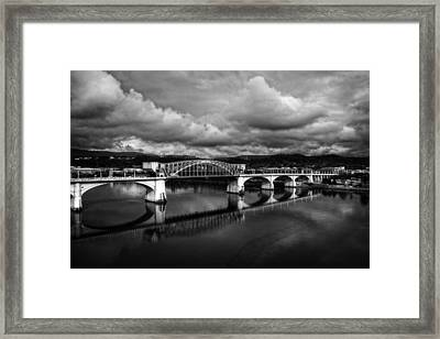 Market Street Bridge In Black And White Framed Print