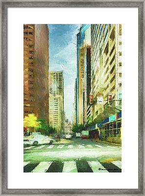 Market Street Framed Print by Marvin Spates