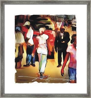 Market Street Scene Framed Print by Bob Salo
