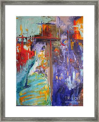Market Street Framed Print by Sharon Franke