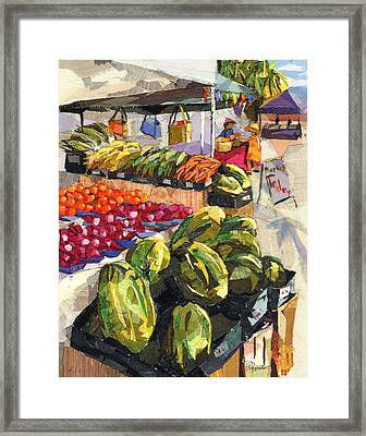 Market Today Framed Print by Patricia Presseller