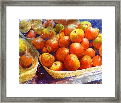 Framed Print featuring the painting Market Tomatoes by Andrew King