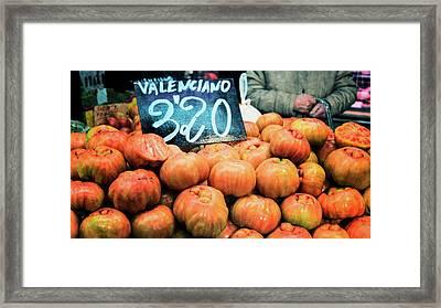 Market Tomatoes Framed Print