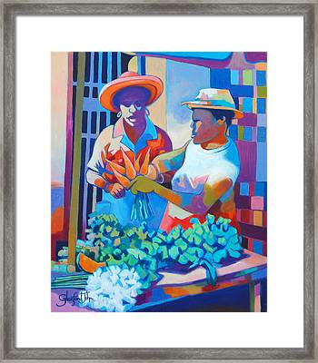 Market Vendor Framed Print
