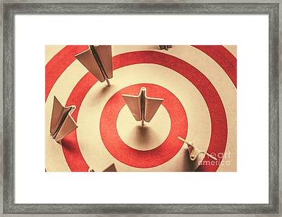 Marketing Your Target Market Framed Print