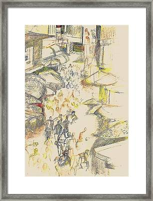 Marketplace Framed Print by Al Goldfarb