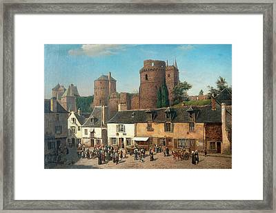 Marketplace In Vitre Framed Print by MotionAge Designs