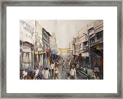 Marketplace Framed Print