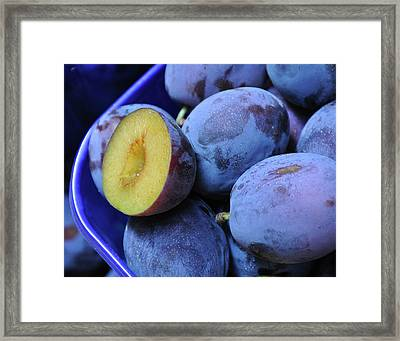 Marketplace Plums Framed Print