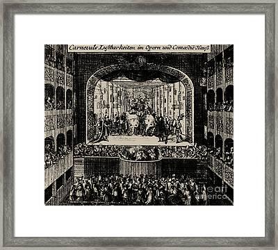 Markgrafentheater In Erlangen, 1721  Framed Print by Johann Baptista Homann