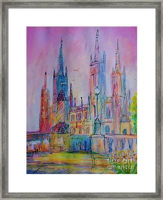 Marktkirche Wiesbaden Framed Print by Ingrid  Becker