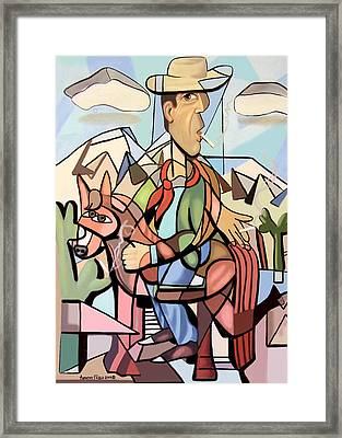 Marlboro Man Framed Print by Anthony Falbo
