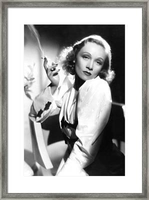 Marlene Dietrich Framed Print by American School