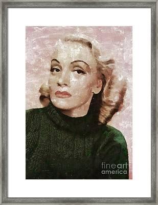 Marlene Dietrich By Mary Bassett Framed Print