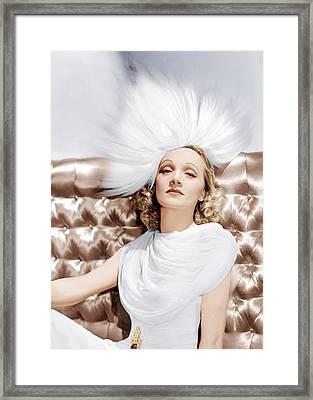 Marlene Dietrich, Ca. 1930s Framed Print