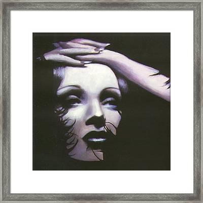 Marlene Dietrich Framed Print by Elizabeth Silk