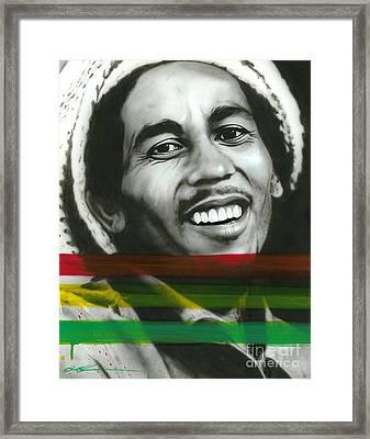Bob Marley - ' Marley ' Framed Print by Christian Chapman Art