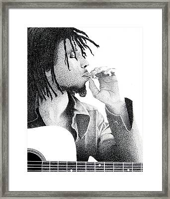 Marley In Ink Framed Print by Eric Robinson