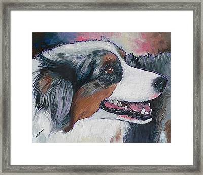Framed Print featuring the painting Marley by Nadi Spencer