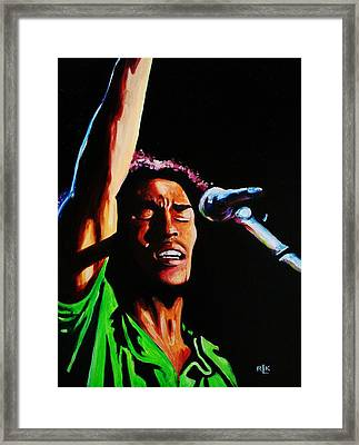 Marley One Love Framed Print by Richard Klingbeil