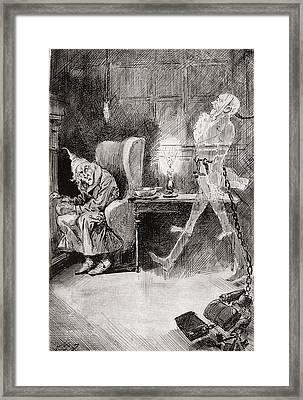 Marleys Ghost. The Same Face Framed Print by Vintage Design Pics