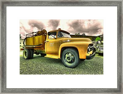 Marlin Fire Department Framed Print by Jeff Swan