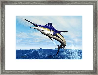 Marlin Jump Framed Print by Corey Ford