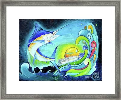 Marlin Night Escape Framed Print by Shelly Tschupp