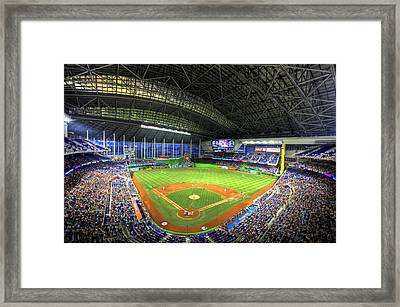 Marlins Park Framed Print by Shawn Everhart
