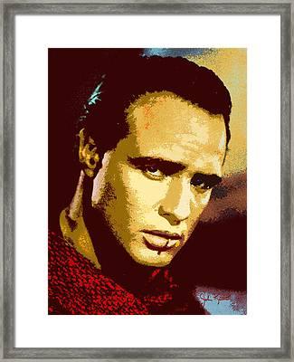 Marlon Brando  2 Framed Print by John Keaton