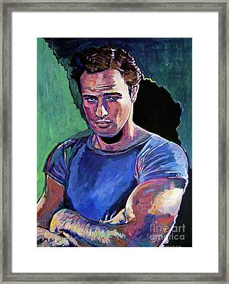 Marlon Brando Framed Print by David Lloyd Glover