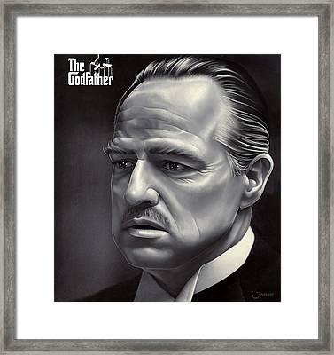 Marlon Brando Drawing  Framed Print