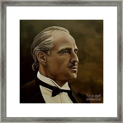 Marlon Brando Framed Print by Meijering Manupix