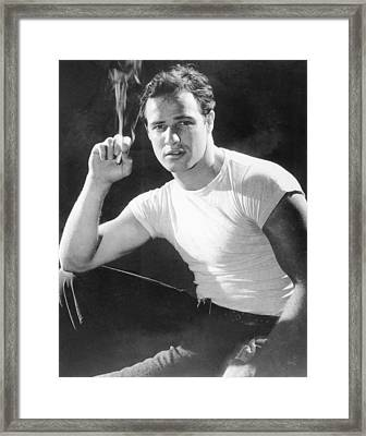 Marlon Brando, Portrait From A Framed Print