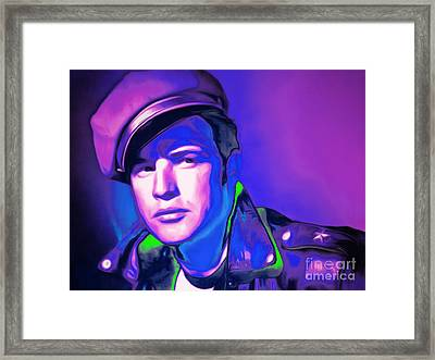 Marlon Brando The Wild One 20160116 Horizontal M80 Framed Print by Wingsdomain Art and Photography