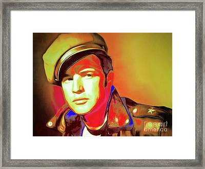 Marlon Brando The Wild One 20160116 Horizontal P50 Framed Print by Wingsdomain Art and Photography