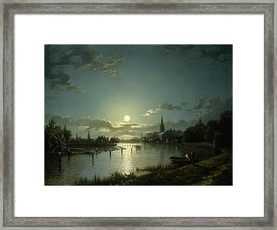 Marlow On Thames Framed Print by Hnery Pether