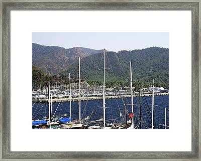 Marmaris Port Framed Print by Svetlana Sewell