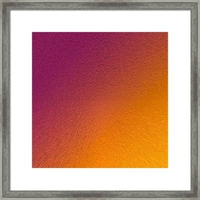 Maroon And Orange Framed Print by Betsy Knapp