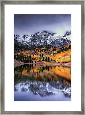 Maroon Bells At Autumn Framed Print