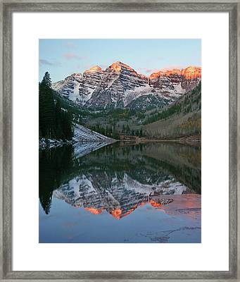 Maroon Bells At Sunrise Framed Print