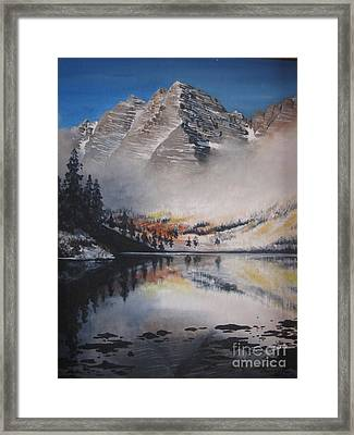 Maroon Bells Framed Print by Barbara Prestridge
