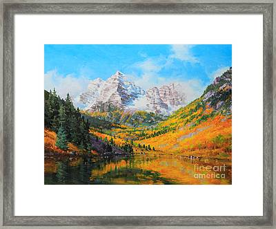Maroon Bells Framed Print by Gary Kim